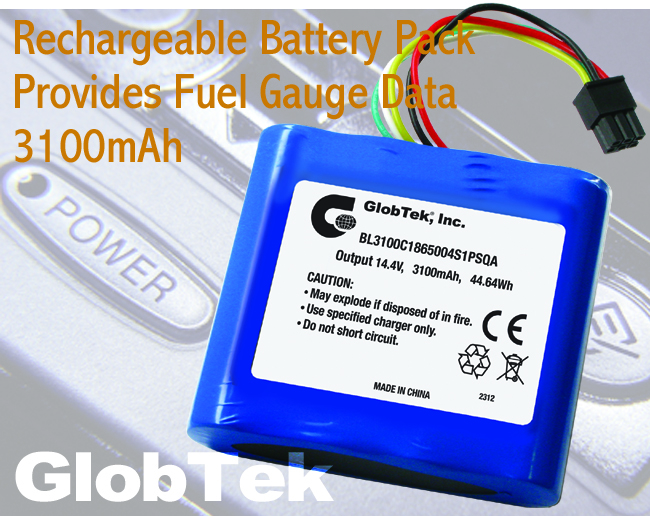 Rechargeable Battery Pack Provides Fuel Gauge Data
