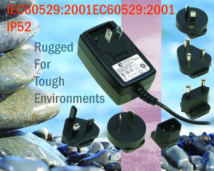 Waterproof and Weatherproof Ruggedized IP 42, IP52, IP67, and IP68 Power Supplies and AC Adapters